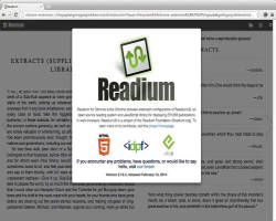 Readium EPUB reader
