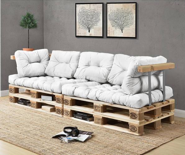 Divani in pallet la nuova moda per guardare la tv for Divano esterno legno